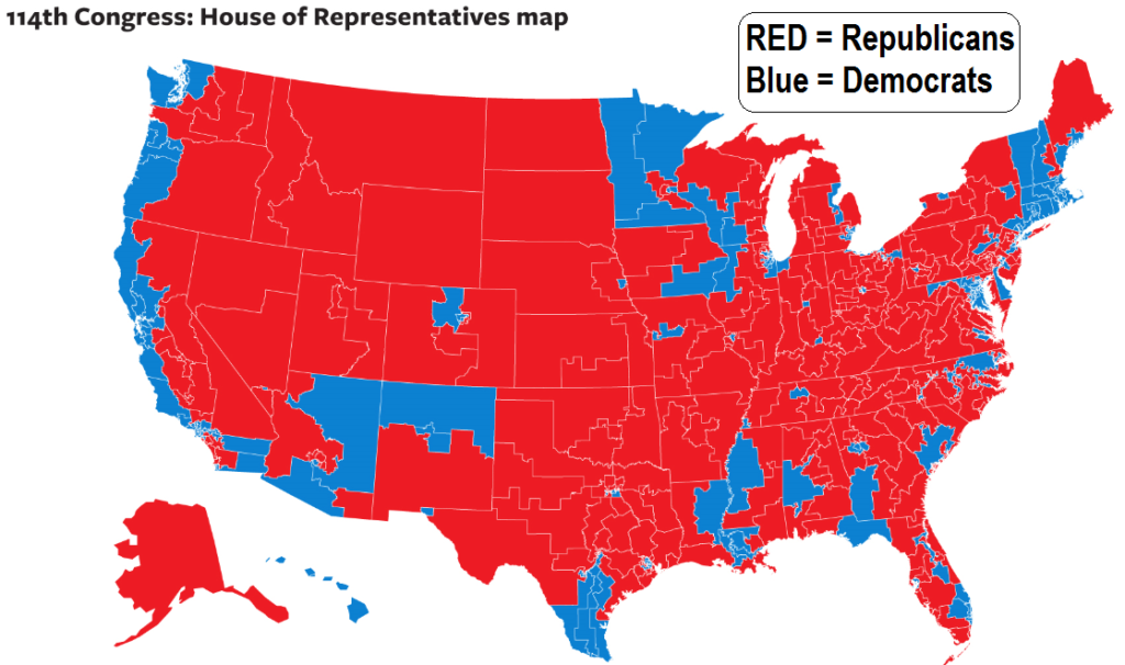 election 2014 map the House